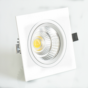Image 3 - Square dimmable LED downlight embedded 7W9W12W COB LED ceiling light ac85 265v warm/cold white LED spotlight indoor lighting