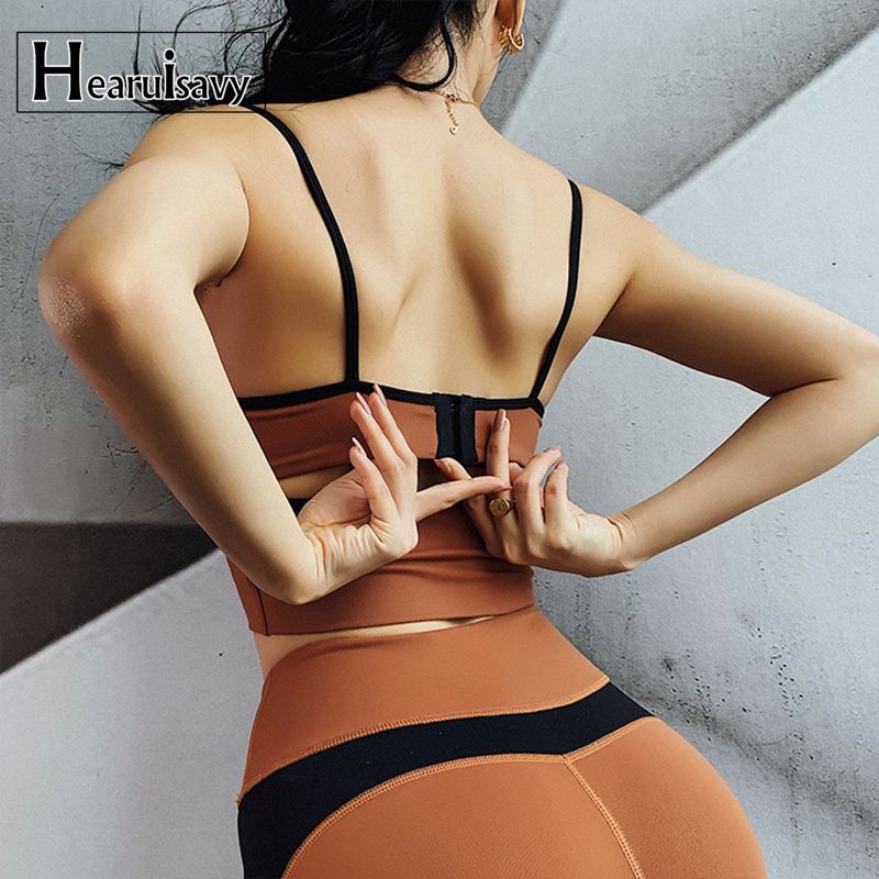Adjustable Back Buckle Sports Bra Women Push Up Bra Sexy Thin Shoulder Strap Running Shockproof Fitness Yoga Bra Underwear