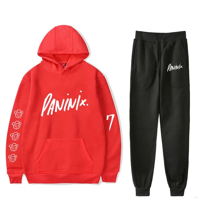 2019 High Quality Autumn And Winter Cotton Warm Sportswear+Sweatpants Suit MenHooded Sweatshirt Casual Sportswear