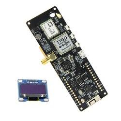 Ttgo t-beam v1.0 esp32 433/868/915/923 mhz wifi bluetooth módulo esp32 gps NEO-6M sma 18650 suporte de bateria com oled