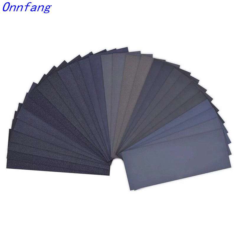 20Pcs Wet Dry Sandpaper, High Grit 1000/2000/3000/5000/7000  Sandpaper Sheets Assortment For Wood Metal Polishing  23 * 9 Cm