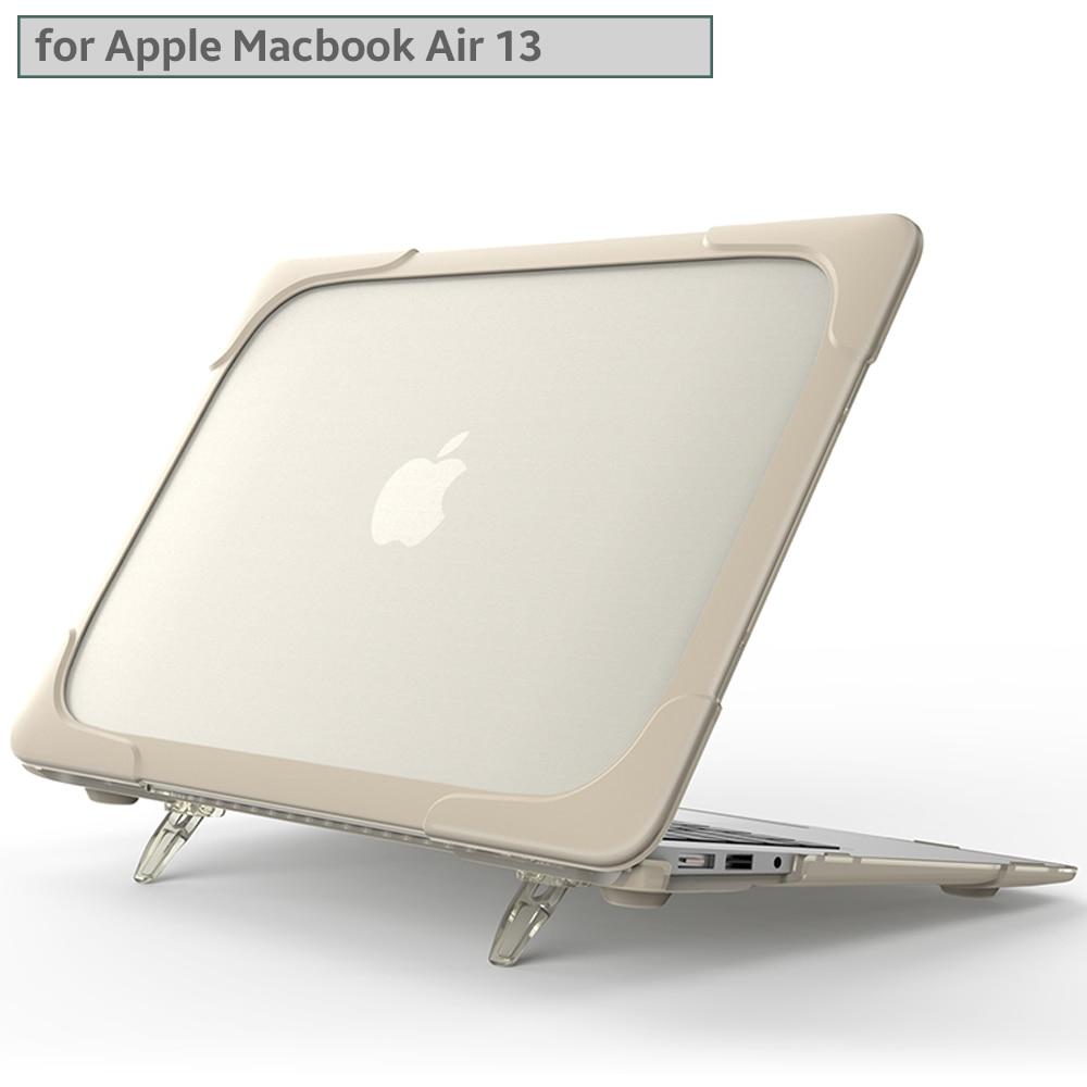 Novo Stand Case Dobrável Para MacBook Air Caso polegadas A1932 13 A2179 2018/2019/2020 Carros TPU Tampa do Suporte À Prova de Choque cobertura exterior