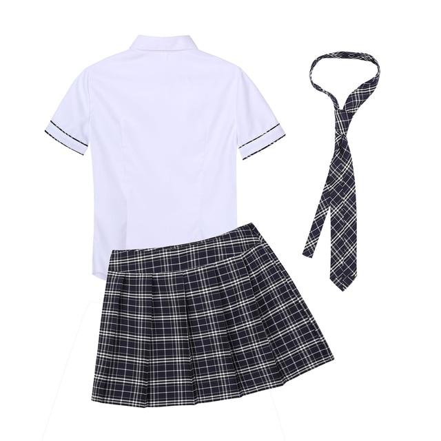Sexy Adult Costume School Girl Cosplay Uniform #C1525 3