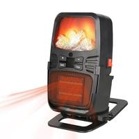 Warm Air Blower Space Heater Electric Flame Heater Small Adjustable Heater Home Office Dormitory Winter Hand Warmer