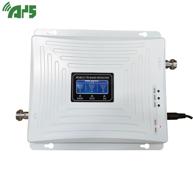 Amplificador de señal de teléfono celular de banda Triple 2G 3G 4G GSM 900 LTE 1800 WCDMA 2100 mhz, conjunto de cubierta de antena de repetidor de señal móvil - 2