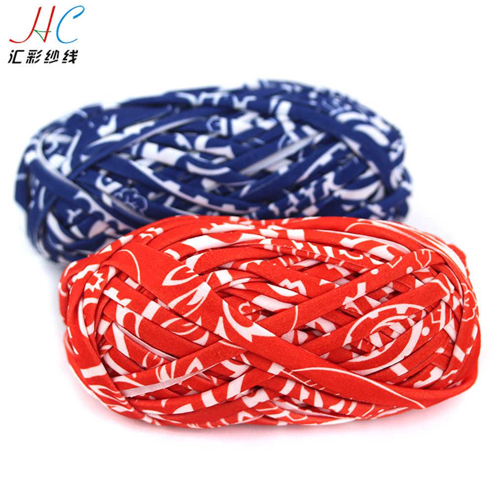 Jingxing, fantasia fábrica de fios smb atacado 100g pacote colorido fita fio para tricô com 100% poliéster t camisa artesanato fio