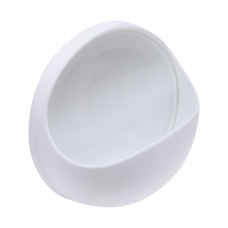 Wall Soap Dish / Soap Box In Plastic With Suction Cup, White