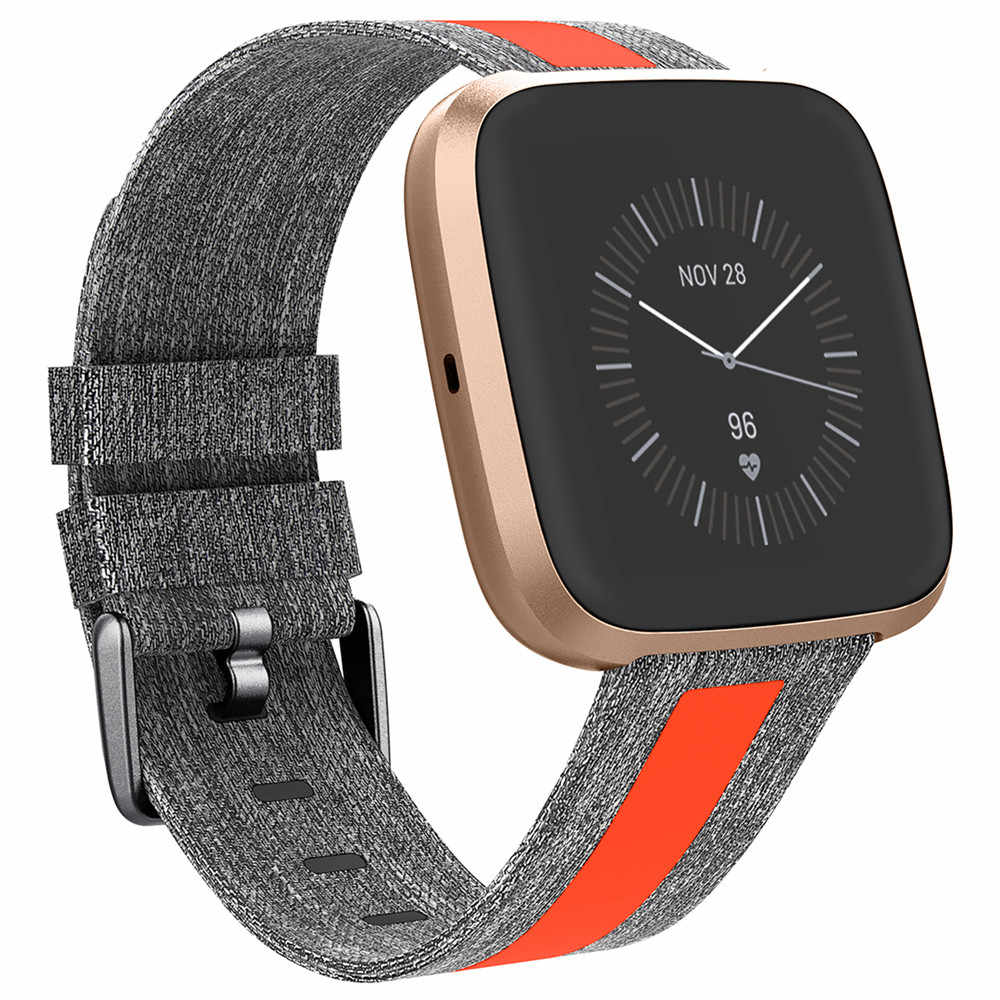 Bền Đẹp Vải Cổ Tay Dây Đeo Fitbit Versa/Versa 2/Versa Lite Đồng Hồ Thông Minh Smartwatch Thay Thế Vòng Đeo Tay Thể Thao Dây Đồng Hồ ban Nhạc