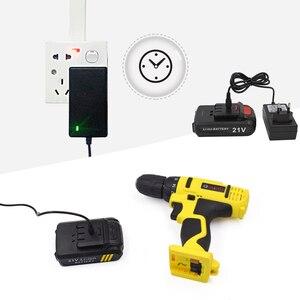 Image 4 - Goxawee chave de fenda elétrica, 21v/12v sem fio com baterias de lítio recarregável mini furadeira 2 velocidades energia sem fio ferramenta,