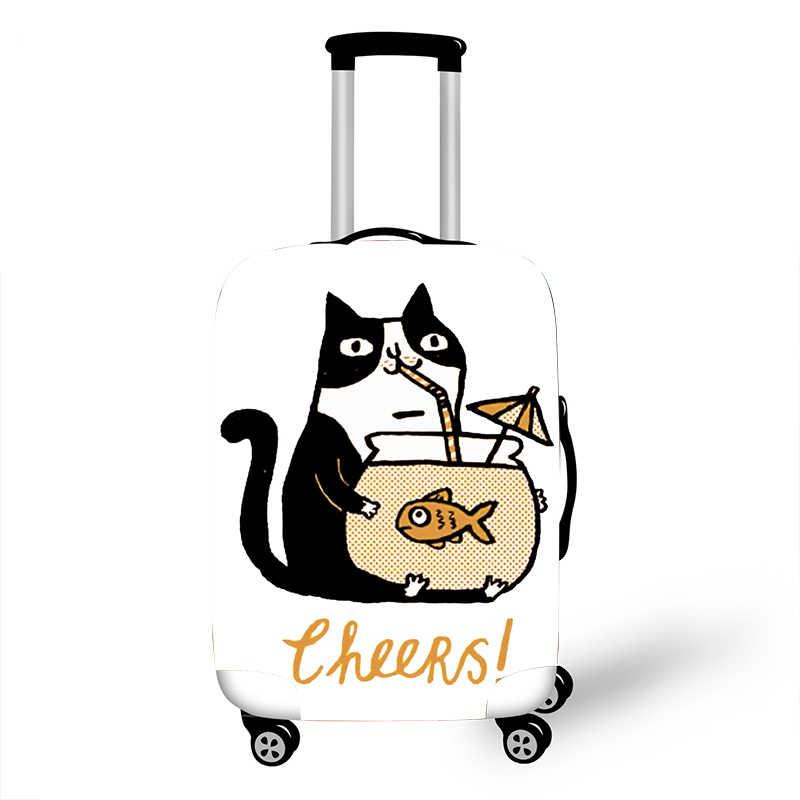 ยืดหยุ่นป้องกันกระเป๋าเดินทางสำหรับกระเป๋าเดินทางป้องกันรถเข็นกรณีครอบคลุม 3D อุปกรณ์เสริมแมวรูปแบบ T0120