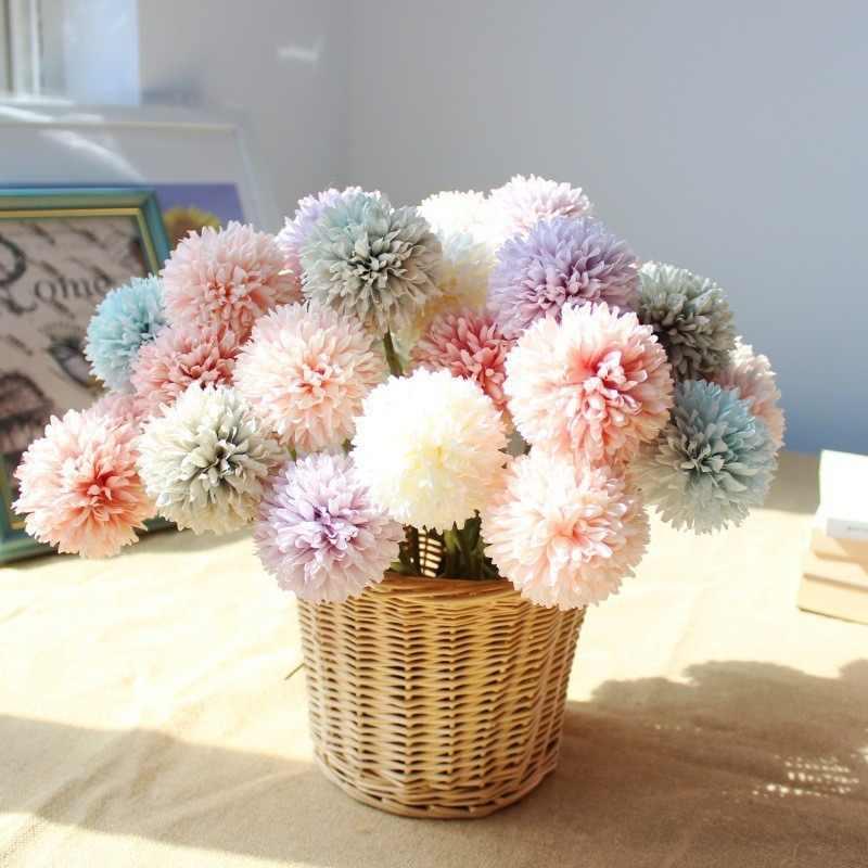 בית תפאורה מלאכותי שן הארי פרח משי יקינתון פרחים לחתונה המפלגה משרד קישוטי TM386