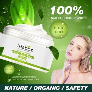 Image 1 - MABOX 20g אקנה טיפול חטט Remova אנטי אקנה קרם שליטת שמן לכווץ נקבוביות אקנה צלקת להסיר טיפוח פנים הלבנת