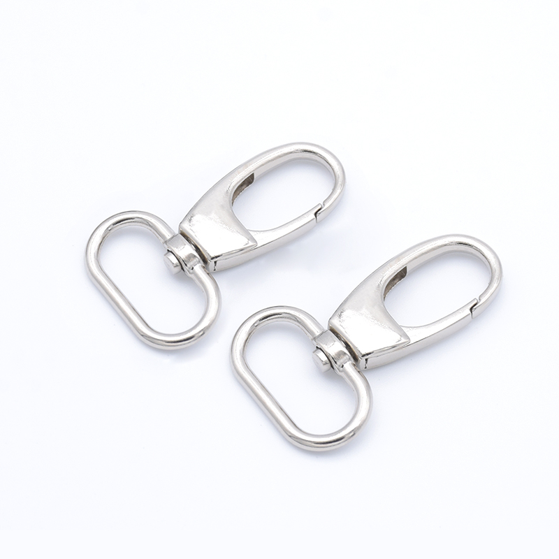 5x Metal Snap Hook Trigger Clips Buckles Oval Ring for Leather Strap/ Belt Keychain Webbing Pet Leash Hooks