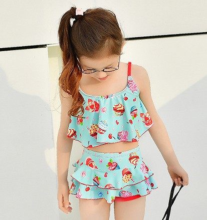 Children Two-piece Swimsuits GIRL'S Two Piece Set Korean Style Catwalk Models Fashion Princess Dress-Big Boy GIRL'S Swimsuit