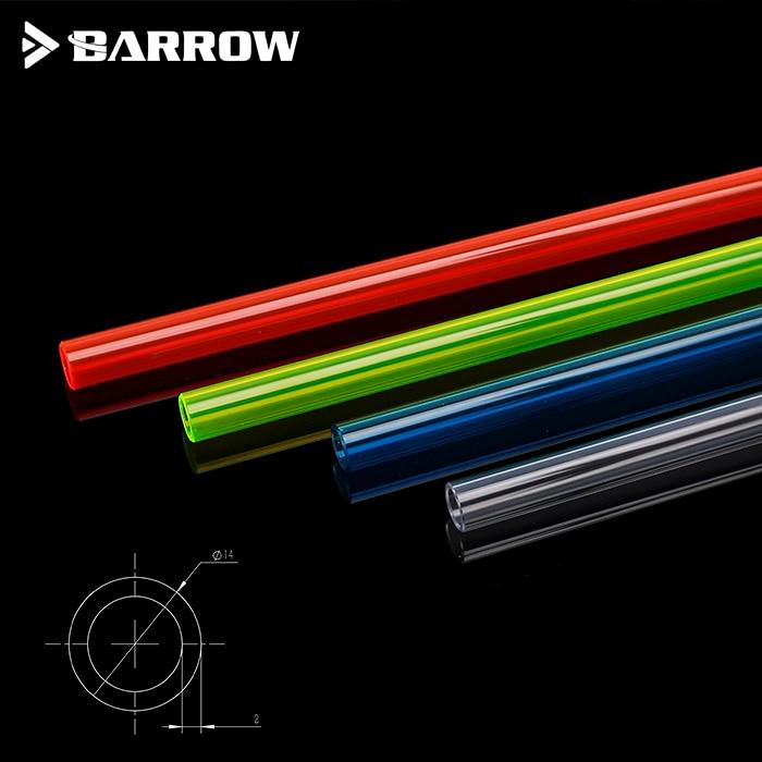 6pcs Barrow PETG 500mm 8X12MM,10X14MM,12X16mm Computer Split Water Cooling Normal Temperature Bend  Hard Tube Heatpipe