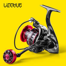 LINNHUE Fishing Reel HK500-7000 Metal Grip 5.2:1 High Speed Spinning Reel Carp Fishing Saltwater Reel Send Gift 150m Nylon Line