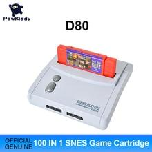 POWKIDDY D80 TV Video Spiel Konsole Für S n e s 16 Bit Spiele Mit 100 In 1 SNES Spiel Patrone (Kann Batterie Sparen)