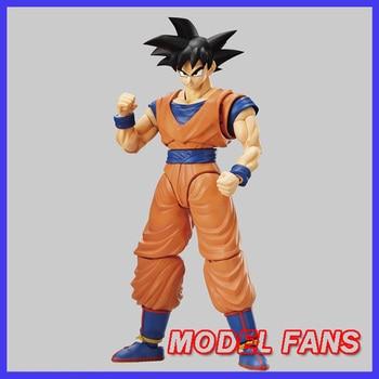 MODEL FANS Original BANDAI Dragon Ball Z GT Figure-rise Standard son goku gokou black hair Assembly Action Figure Toys