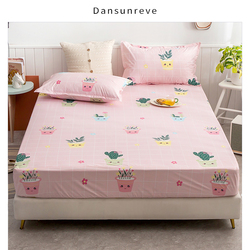 Dansunreve New Coming Waterproof Fitted Sheet 150x200cm Mattress Pad Protector Bedspread On The Bed With Elastic Band Twin Queen