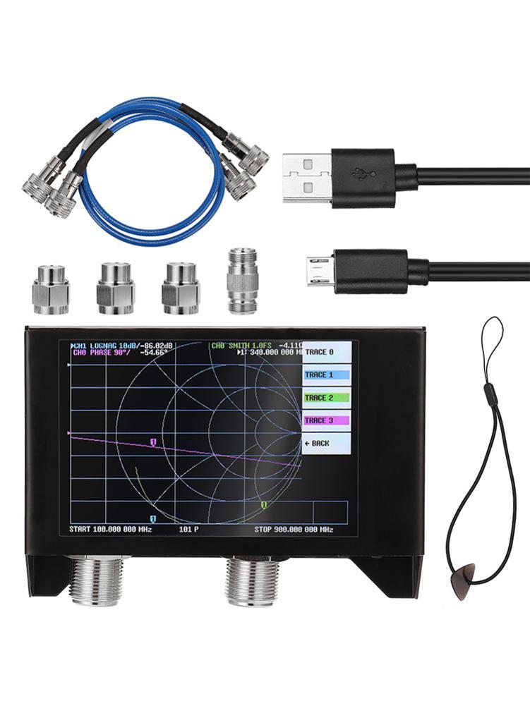 Dla SAA2N Nano VNA V2 3GH wektor analizator sieci zestaw cyfrowy ekran dotykowy 50KHz - 3GHz analizator antenowy z torba do przechowywania EVA