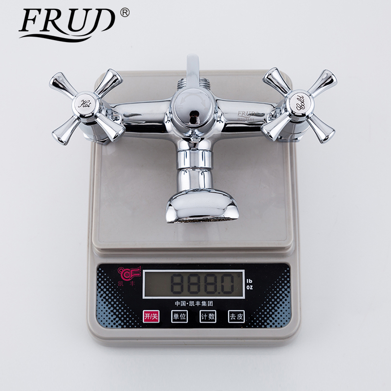 FRUD 1 set Shower System Bathroom Rainfall Shower Faucet Bathtub Faucet Shaped Shower Head Water Saving Shower Mixer set R24732