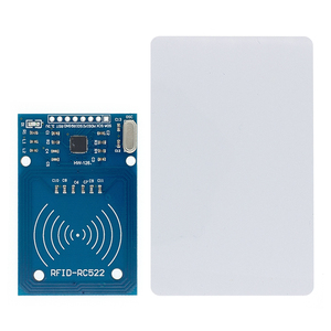Image 2 - Free shipping 50pcs MFRC 522 RC522 RFID RF IC card sensor module to send Fudan card,Rf module keychain