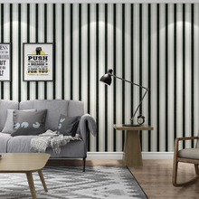 Modern  Black White Striped Wallpapers for Living Room Walls PVC Vertical Stripes Wallpaper Roll papel de parede listrado modern dark gray vertical stripes wallpaper black and white stripes nonwoven wallpaper wallpapers for living room wallpaper roll
