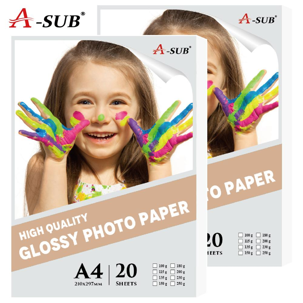 20 Sheets A4 Photo-Paper Glossy Inkjet Printing For Inkjet Printer Photographer Imaging Printing Paper