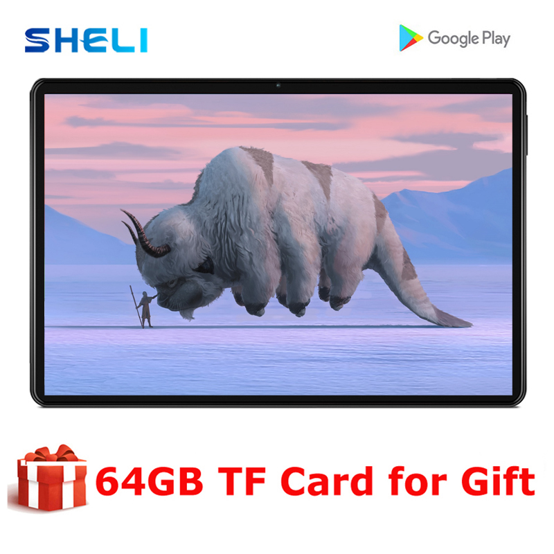 New 10 Inch Tablet PC 4G WIFI Dual SIM Card Phone Call 64GB IPS Screen Google GPS Bluetooth LCD 10 Inch tab Android Phablet