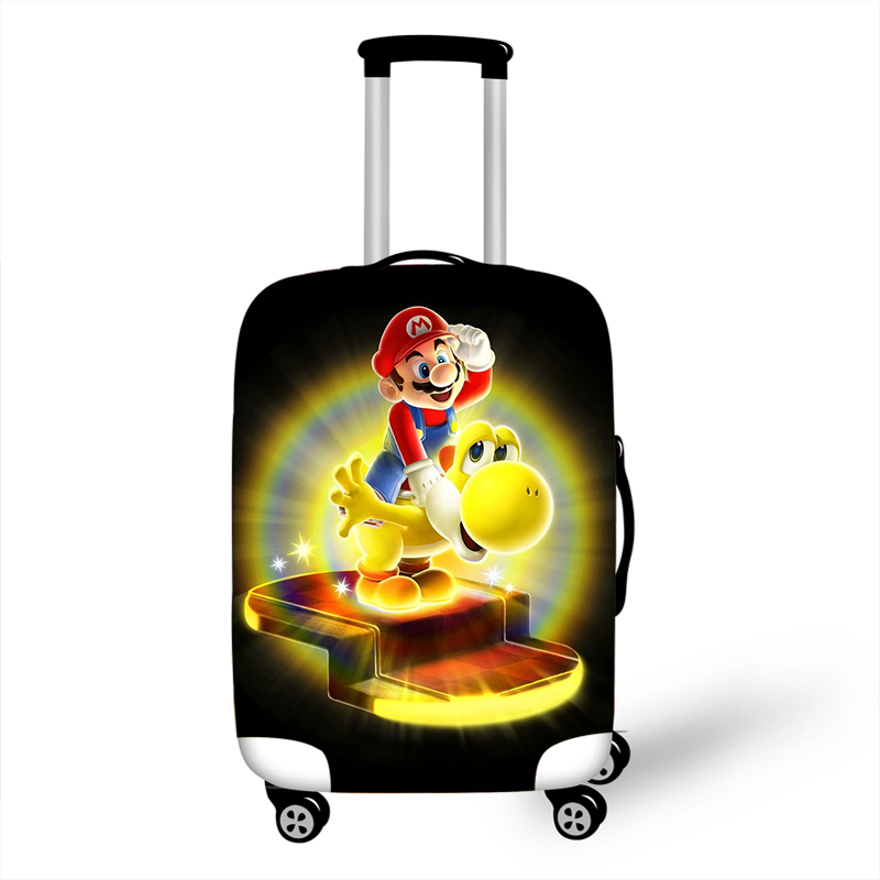 18-32 Inch Mario Bros Sonic Accessories Luggage Cover For Girls Boys Suitcase Protective Cover Elastic Trolley Bag