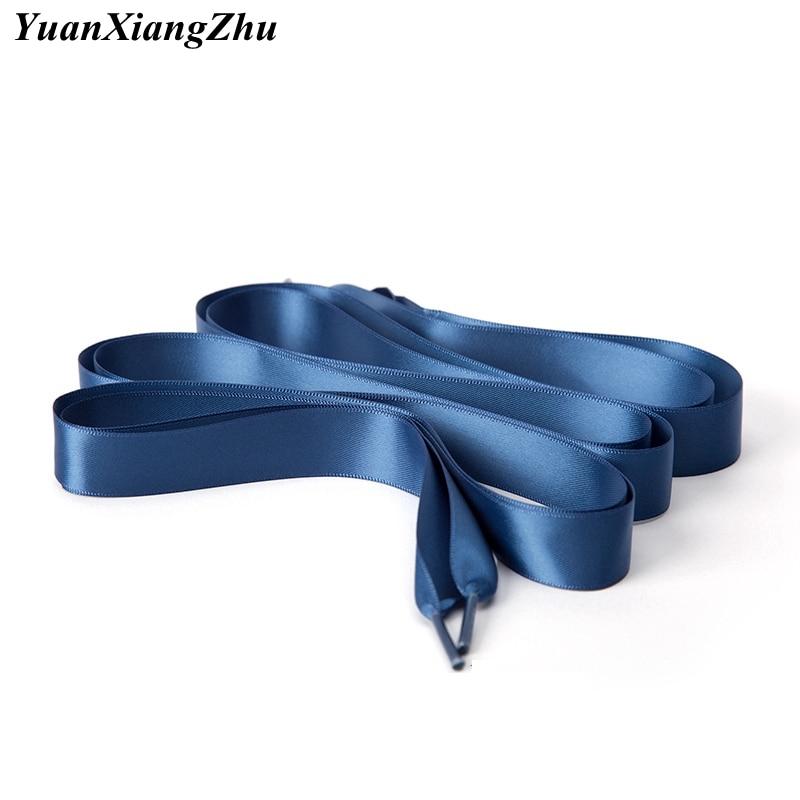 1 Pair 2 CM Width Silk Satin Shoelaces Flat Ribbon Shoe Laces Boots Women Sneakers ShoeLace 22 Colors Length 80CM 100CM 120CM