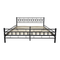 (US) rozmiar queen metalowa rama łóżka z listwą Dropshipping na
