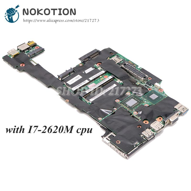 NOKOTION For Lenovo ThinkPad X220 Laptop Motherboard Mainboard <font><b>i7</b></font>-<font><b>2620M</b></font> 2.70GHz HD 3000 04W3290 04w0684 Mainboard image