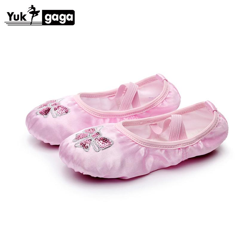 Hot Sale Child Girl Women Soft Split Sole Dance Ballet Shoes Comfortable Fitness Breathable Canvas Practice Gym Slippers