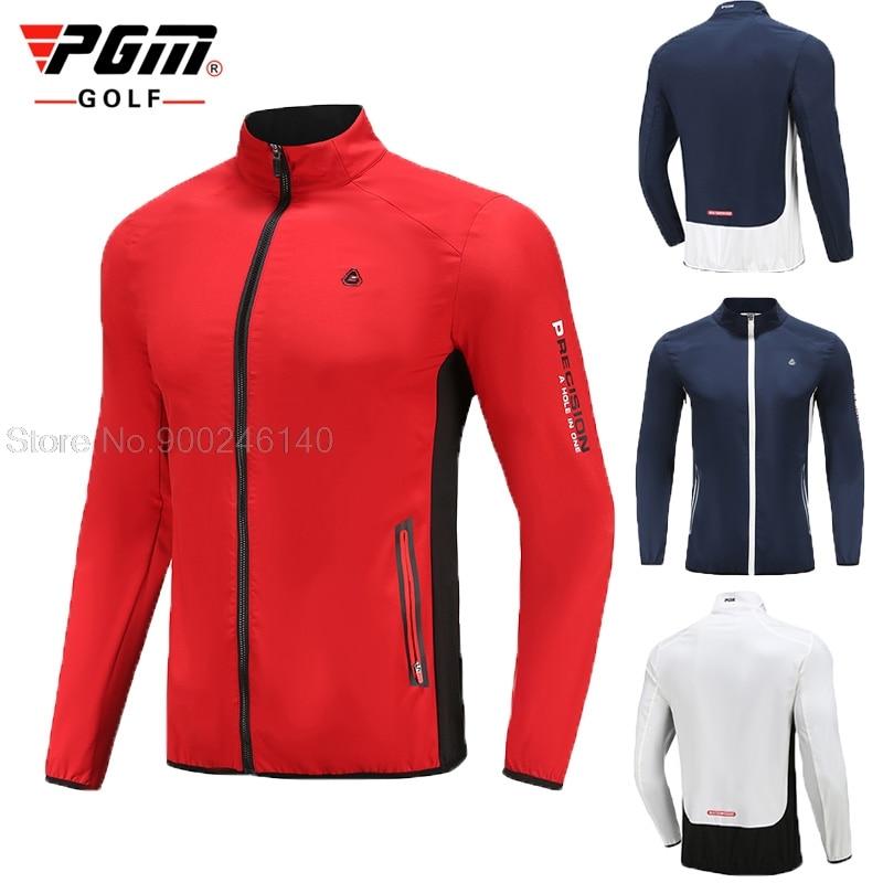 Pgm Men'S Autumn Winter Golf Clothing Waterproof Golf Windbreaker Warm Breathable Sports Jacket Full Zipper Training Coats