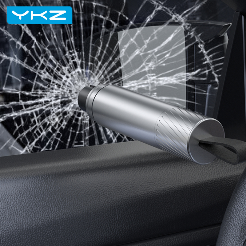 YKZ Car Safety Hammer Car Emergency Glass Window Breaker Seat Belt Cutter Life-Saving Escape Car Emergency Tool broken Glass