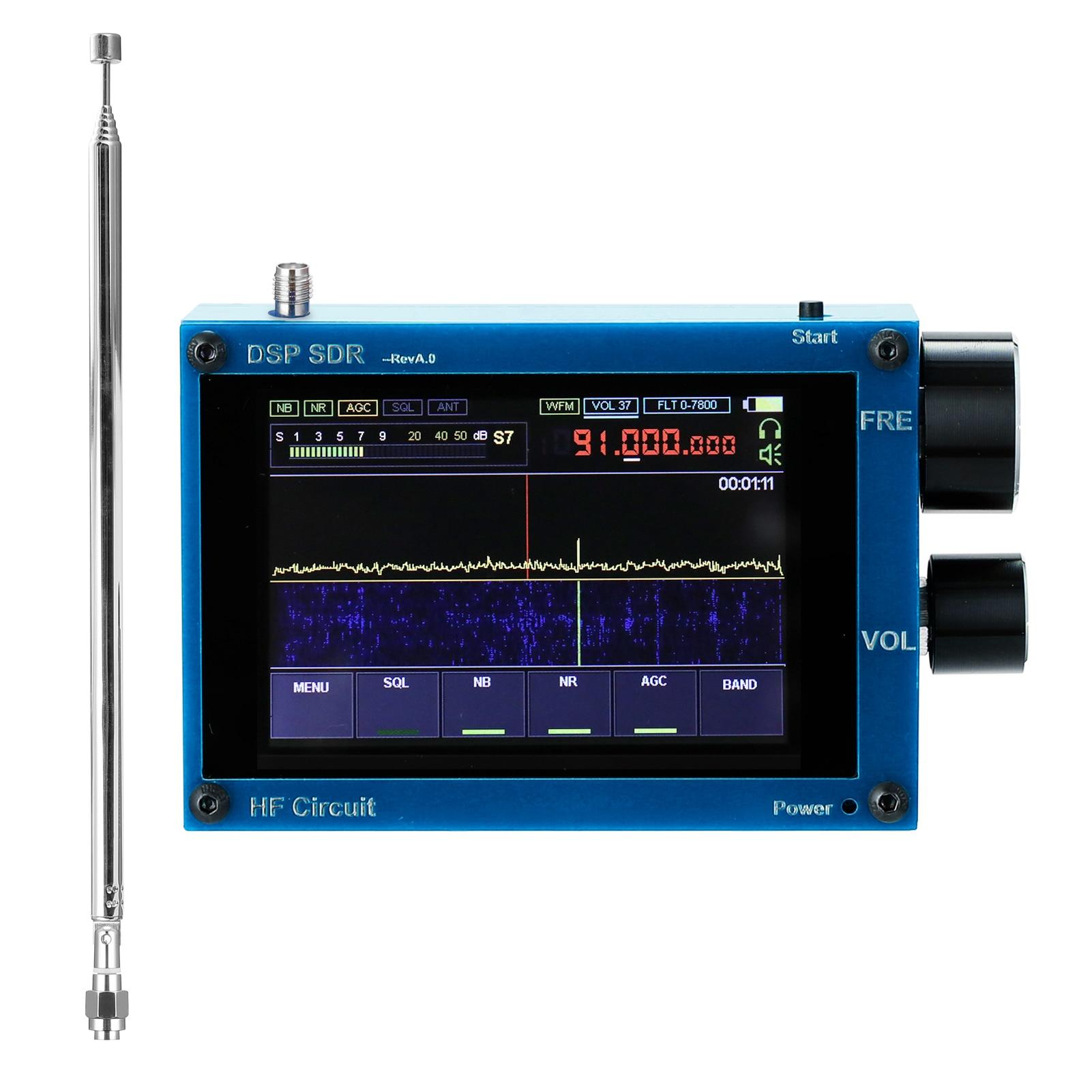 50 кГц-200 МГц 3,5 дюйма сенсорный IPS экран SDR приемник Любительское программно определяемое радио Малахит DSP программно определяемое радио