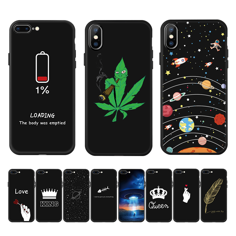 Silicone Cases For Iphone 5 6 S SE 5S 6S 8 7 Plus X 11 Pro Xs Max XR XS Soft TPU Cover For IPhone 11 Xs Xr 7 PLUS Pattern Case