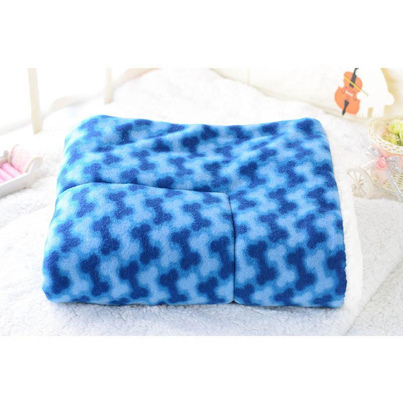 Winter Warm Pet Dog Soft Cushion Large Print Flannel Cotton Mattress Cat Pet Mat Bed Pad Rug Cartoon Printed Cat And Dog Pad 19