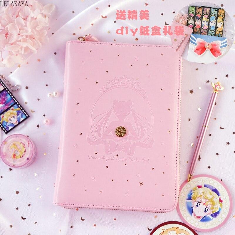 New Anime Action Figure Printed Sailor Moon Tsukino Usagi Creative Paper Handbooks Student Lovely Notebook Journal Book Gifts
