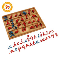 Montessori Material Cursive Moveable Alphabet Language Teaching Aids Baby Toy Preschool Children Toy