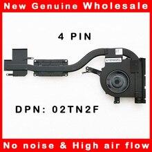 Кулер для охлаждения процессора ноутбука, радиатор для Dell Latitude E5570 02TN2F 2TN2F AT1EF003ZCL