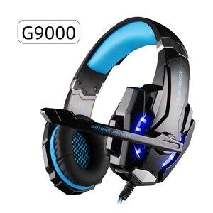 Image 2 - سماعة Gamer الإفراط في الأذن سماعة رأس سلكية للكمبيوتر PS4 جديد X BOX لعبة الكمبيوتر العميق باس ستيريو الألعاب سماعة رأس بمايكروفون LED