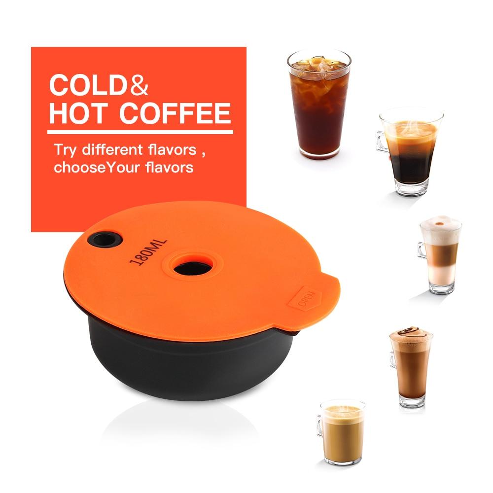 ICafilas 180/60 мл многоразовые кофейные капсулы для BOSCH-s аппарата Tassimoo многоразовые кофейные капсулы Crema Maker eco-friendly