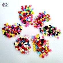 HL 400PCS 6MM Mini Plastic Buttons Mix Colors 6 Styles DIY Scrapbooking Kids Apparel Sewing Dolls Decorations Accessories