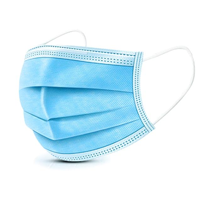 50Pcs 3 layer Child mask Disposable Elastic Mouth Soft BreathableSoft Breathable Flu Hygiene Children's  Kids Face Mask Cartoon 5