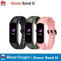 Оригинальный Смарт-браслет Huawei Honor Band 5i AMOLED Huawe honor Смарт-часы для сна  плавания  спорта  трекер SpO2  кислорода в крови