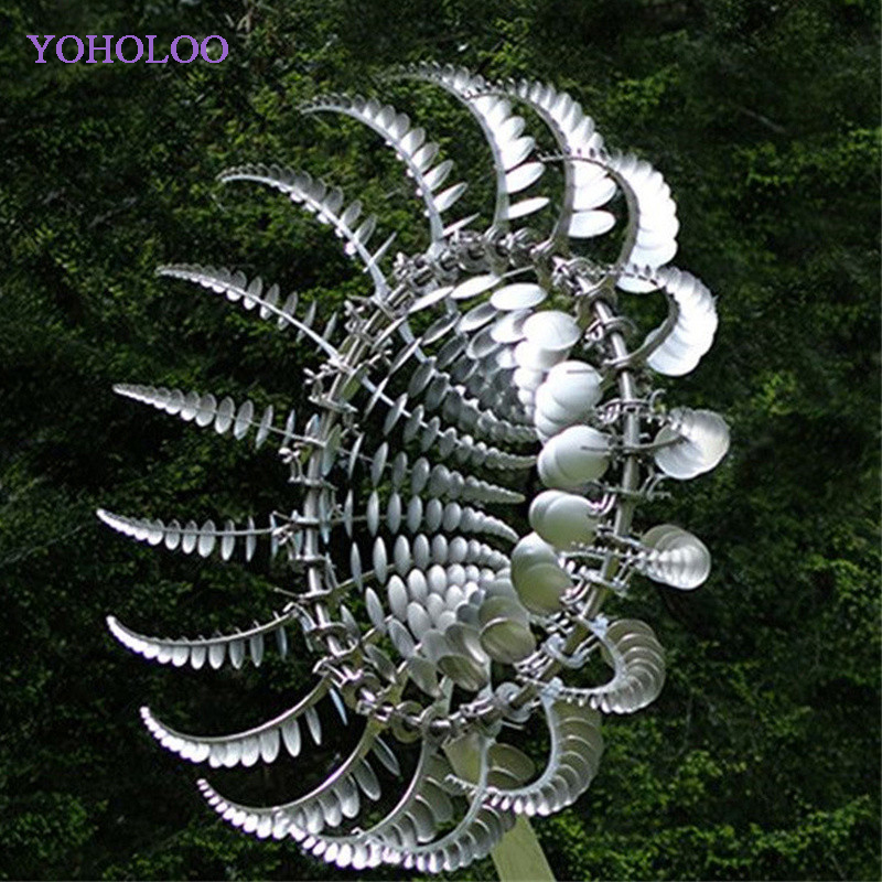 2021 New Unique And Magical Metal Windmill Outdoor Wind Spinners Wind Catchers Yard Patio L Awn Garden Decoration