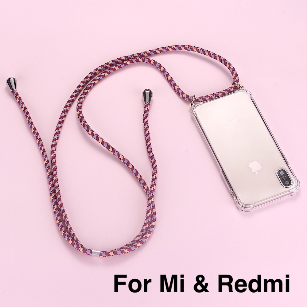 Strap Cord Chain Phone Tape Necklace Lanyard Mobile Phone Case For Carry To Hang For XIAOMI MI Redmi 3 5 6 7 8 9 A3 9T K20 6A A2