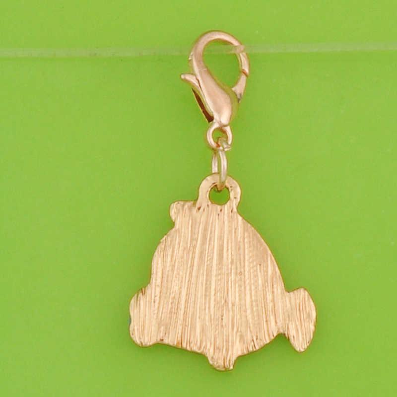 DIY metal dynda emalia klaun ryby charms z zapięciem wisiorki dla bransoletka/naszyjnik/kolczyk tworzenia biżuterii urok ozdoba craft